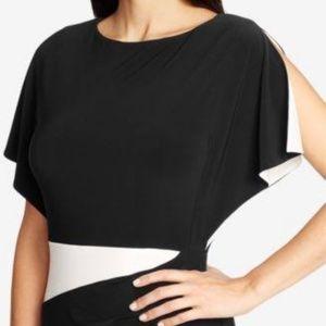 Ralph Lauren colorblock flutter sleeve dress